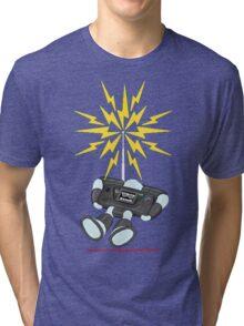 """8 Bit Buzz Bot v2.0.1 """"GearRoid"""" Tri-blend T-Shirt"""