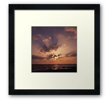 Sun Behind the Cloud Framed Print