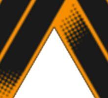 TRIANGULAR-ORANGE Sticker