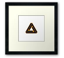 TRIANGULAR-ORANGE Framed Print