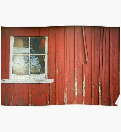 Red Shed Window 2 Poster
