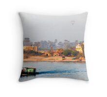 Nile Dew Throw Pillow