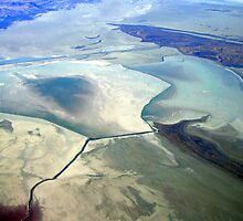 Aerial Great Salt Lake 3 by Dana Roper