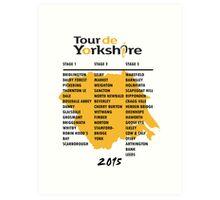 Tour de Yorkshire 2015 Tour Art Print
