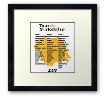 Tour de Yorkshire 2015 Tour Framed Print