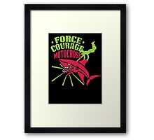 Motocross Shark v2 Framed Print