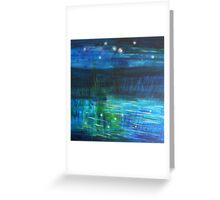 Midnight Reflection Greeting Card