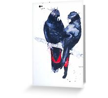Art Sobrane Red Tailed Black Cockatoos Greeting Card