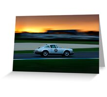 Driving Dusk Greeting Card