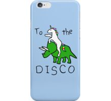 To The Disco (Unicorn Riding Triceratops) iPhone Case/Skin