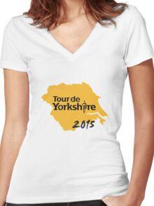Tour de Yorkshire 2015 Women's Fitted V-Neck T-Shirt