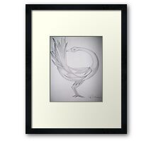 Sankofa bird Framed Print