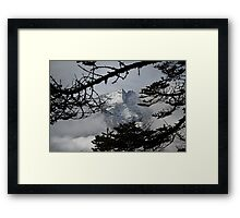 Mountains Through the Trees Framed Print