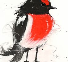 Art Sobrane Scarlet Robin by Sobrane