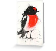 Art Sobrane Scarlet Robin Greeting Card