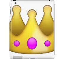 crown emoji iPad Case/Skin