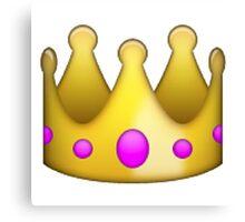 crown emoji Canvas Print