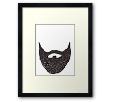 WITH A GREAT BEARD COMES GREAT RESPONSIBILITY Framed Print