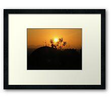 Sunset in Malawi Framed Print