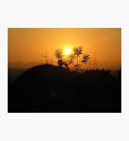 Sunset in Malawi Photographic Print