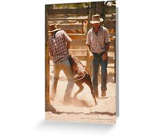 Cowboys At Work © Vicki Ferrari Greeting Card