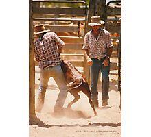 Cowboys At Work © Vicki Ferrari Photographic Print