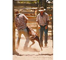 Cowboys At Work © Vicki Ferrari Photographic Print
