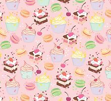 sweet cupcake pattern by MartaOlgaKlara