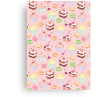 sweet cupcake pattern Canvas Print