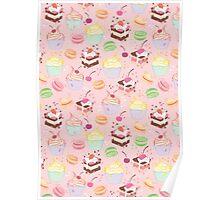 sweet cupcake pattern Poster