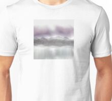 Soft Landscape in Purple and Gray Unisex T-Shirt