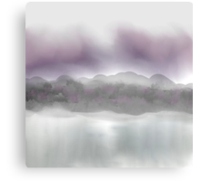Soft Landscape in Purple and Gray Canvas Print