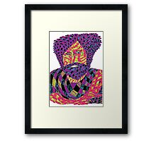 Jerry Garcia Psychedelic Framed Print