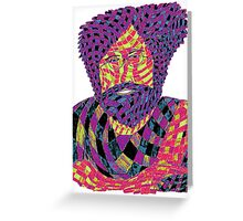 Jerry Garcia Psychedelic Greeting Card