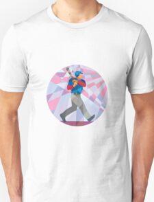 Baseball Batter Hitter Batting Low Polygon T-Shirt