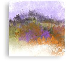 Landscape in Purple, Orange, and Greens Canvas Print