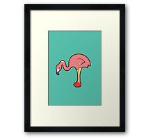 Flamingo with red boot Framed Print