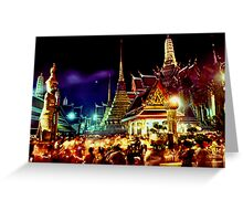The extraordinary Wat Phra Keow, Bangkok Greeting Card