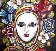 Ribbon Fantasy Mask by Pamela Plante
