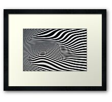 Op-art black and white swirly stripes Framed Print