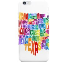 United States Typography Text Map iPhone Case/Skin