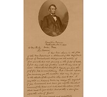 President Lincoln Letter To Mrs. Bixby  by warishellstore