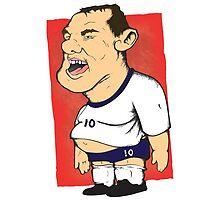 Wayne Rooney illustration  by Marcus Lane illustration