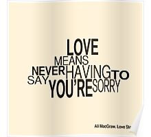 Love Story Quote Poster