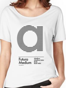 The Letter a Futura Type Women's Relaxed Fit T-Shirt