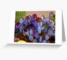 Purple Cactus Greeting Card