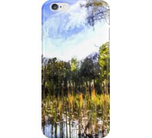 The Bulrush Pond Art iPhone Case/Skin