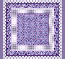 Mauve, Purple, Blue White Ogees and Polkas by helikettle