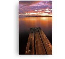 Swan River Jetty Sunset  Canvas Print