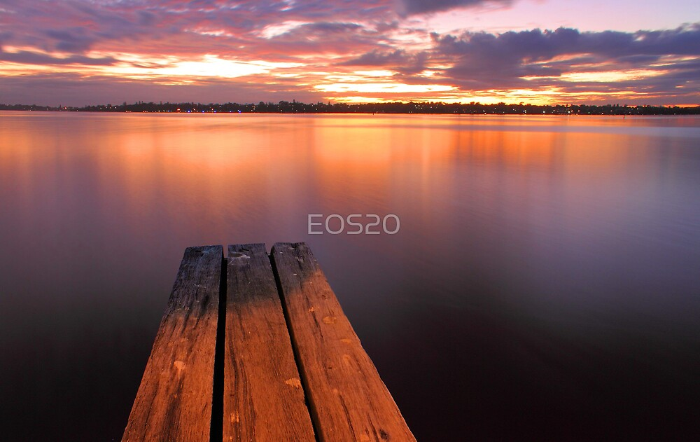 Swan River Jetty Sunset  by EOS20